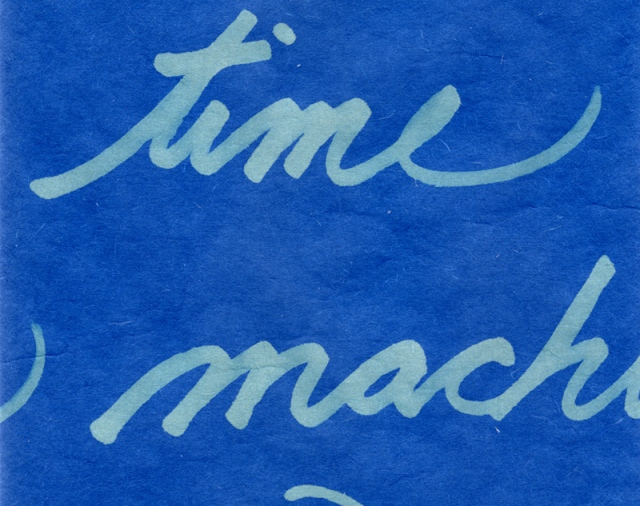 Time Machine: handwriting inverted © Catherine Rutgers