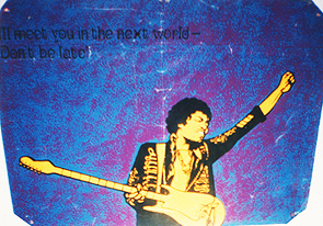 Vintage Jimi Hendrix poster at the Arty Party Salon, 2001
