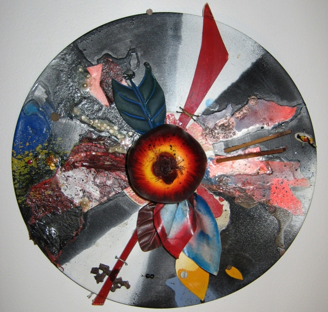 Mixed Media on Vinyl LP © Catherine Rutgers