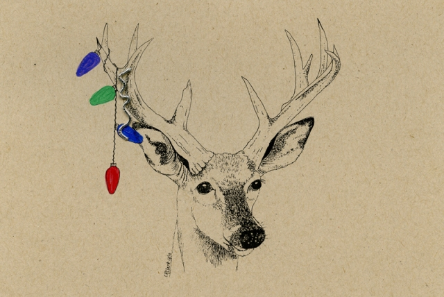 White-tailed Deer 2010 © Carolyn Rutgers Clark