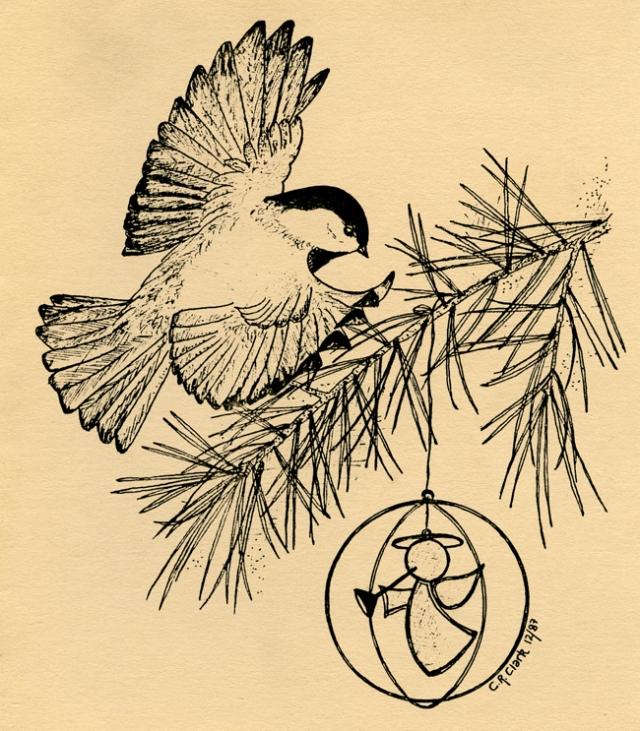 Chickadee 1987 © Carolyn Rutgers Clark