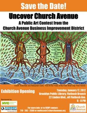 Artwork by Areta Buk and Abbsynian Carto_Uncover Church Avenue Exhibit 2012