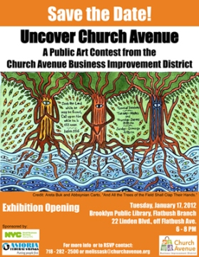 Artwork by Areta Buk and Abbsynian Carto_Uncover Church Avenue Exhibit 2012
