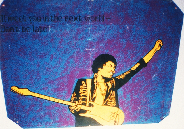 Jimi Hendrix Poster at the Arty Party Salon 2001 Artist Unknown