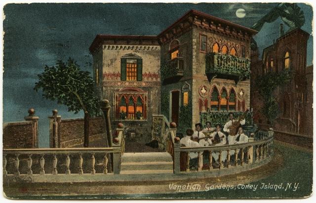 Venetian Gardens, Coney Island, Postcard from 1908