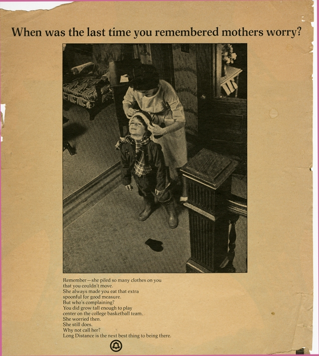 """Mothers Worry"" Advertisement (no date, probably mid-1960s)"