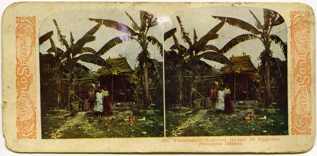 Picturesque Thatched Houses of Filipinos-Philippine Islands 1905
