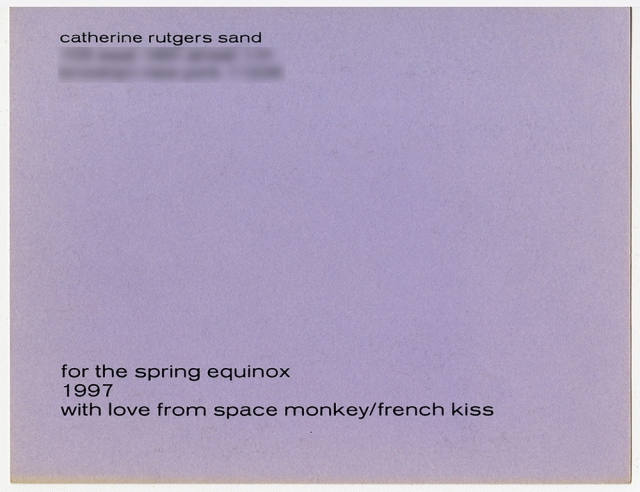 Equinox Kiss 1997 © Catherine Rutgers 2020