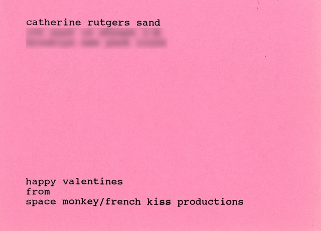 Valentine from Space Monkey 1995 © Catherine Rutgers 2020